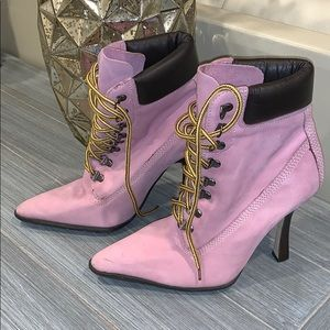 Andrew Stevens Heeled Booties with Laces Size 7.5